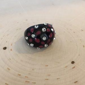 Stone Flower Ring torrid Black